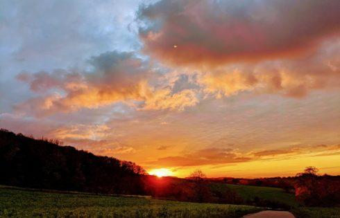 Sonnenuntergang Herbst Kraichgau